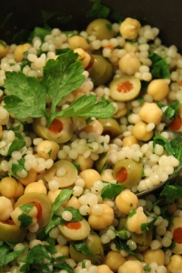 green olive cauliflower couscous